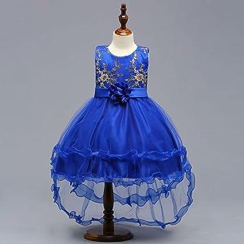 922065f5c RBB Bebé Vestido de Princesa de la Boda Vestido de niñas Cola Falda Vestido  Falda de Cola de pez,Azul,130cm: Amazon.es: Deportes y aire libre