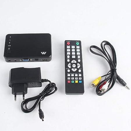 Lightleopard Full HD 1080P 3 Salidas HDMI VGA AV Tarjeta USB ...