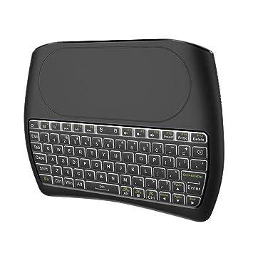 LayOPO Mini Teclado inalámbrico con touchpad, batería de Iones de Litio Recargable y Mando a