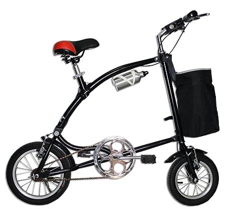 Bici Pieghevole Trasportabile.Bici Bicicletta Nera Pieghevole Alluminio Passeggio