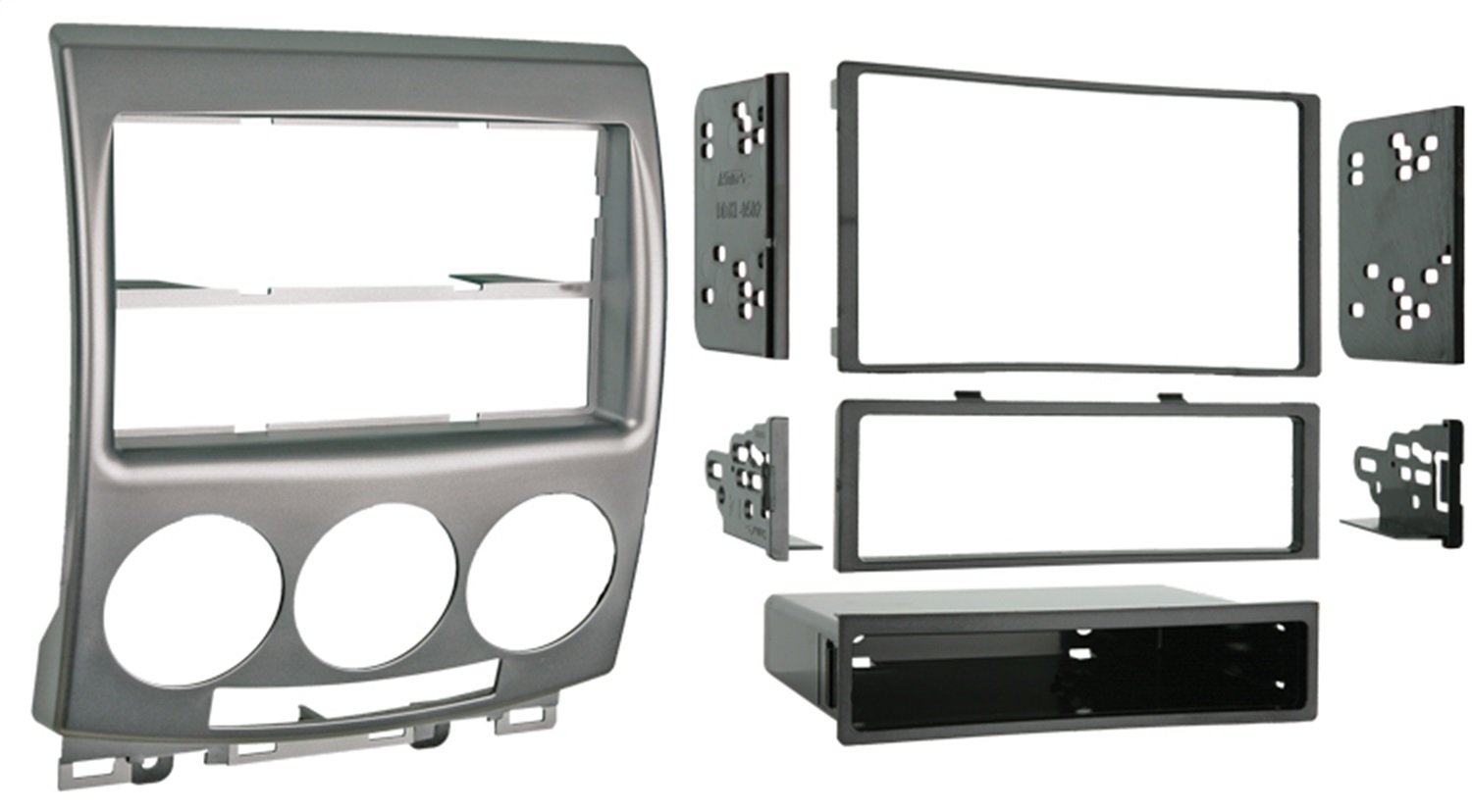 Metra 99-7509 Single DIN/Double DIN Installation Kit for 2006-2007 Mazda 5 Vehicles (Silver) Metra Electronics Corp