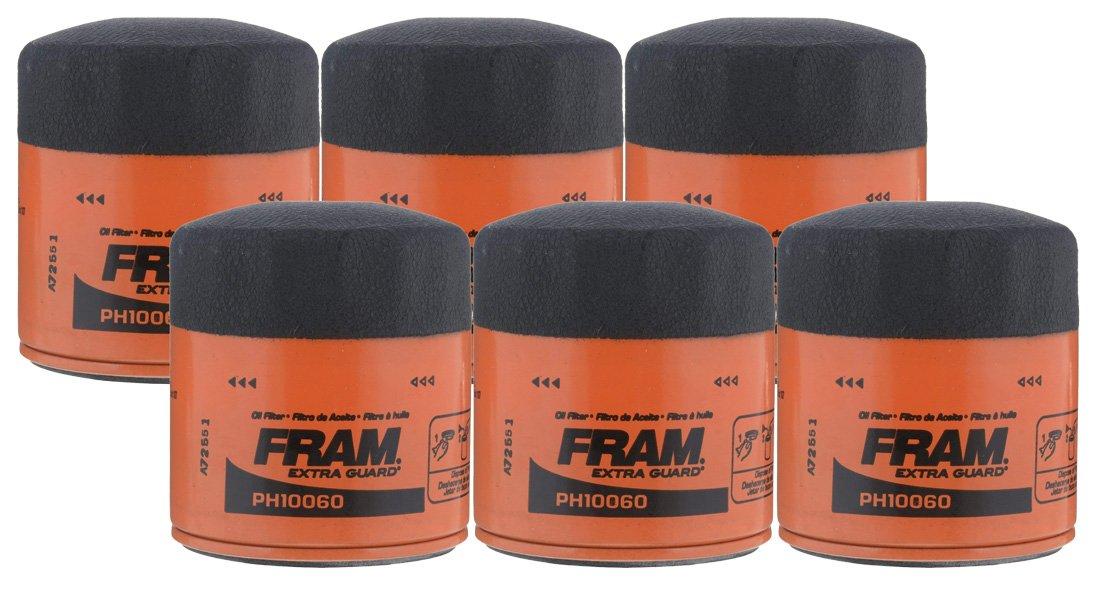 FRAM PH10060 Full-Flow Lube Spin-on Oil Filter - Pack of 6
