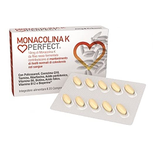 Amazon.com: Monacolin K Perfect Food Supplement 20 Tablets: Health & Personal Care