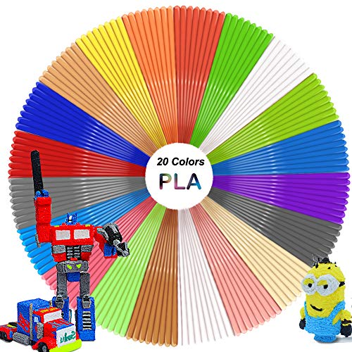 3D Pen Filament - 3D Pen Filament Refills(20 Colors Including 6 Glow, 32.8 Feet Each) - 3D Pen Filament 1.75mm Total 656 Feet for 3D Doodler Pen - Dimensional Accuracy +/- 0.03mm