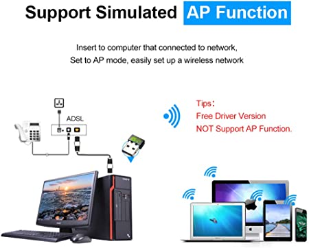 Driverless Wireless Network Card Portable WiFi Receiver Transmitter Adapter for PC USB Ethernet WiFi Dongle 2.4G Network Card Antenna Wi-Fi Receiver EASON WiFi Adapter