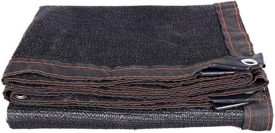 DALL オーニング サンシェード 85% 日除け シェード 通気性 メタルホール 引裂抵抗 スイミングプール 酸化防止 (Color : 黒, Size : 8×10m) 黒 8×10m