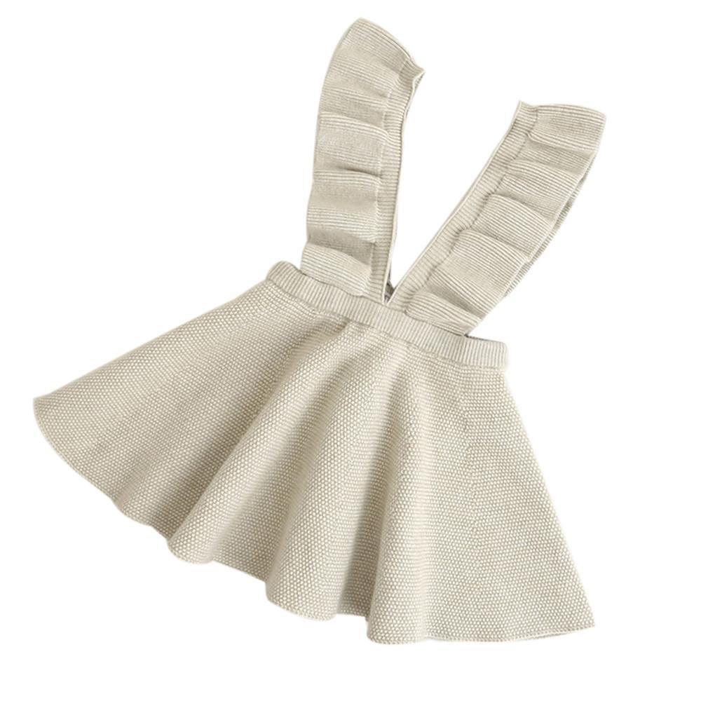 QUICKLYLY Faldas para Niñas Punto Sin Colmena Vestido Otoño Invierno Rodilla-longitud