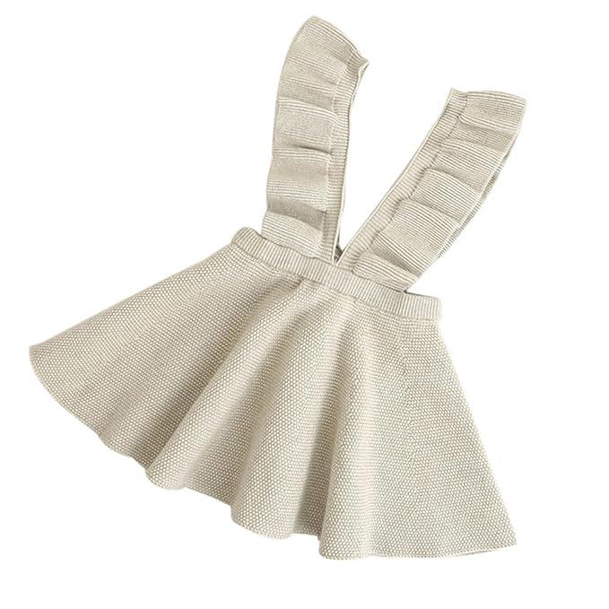 eac996daf QUICKLYLY Faldas para Niñas Punto Sin Colmena Vestido Otoño Invierno  Rodilla-Longitud: Amazon.es: Ropa y accesorios