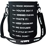 QuiFit Gallon Water Bottle Sleeve: with Shoulder Strap for Gallon Water Bottles with Handle on The Side Multiple Ways of Use
