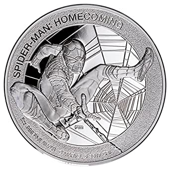 2017 CK SPIDER-MAN MARVEL SERIES HOMECOMING 5 oz Proof Silver Coin $25 Perfect Uncirculated
