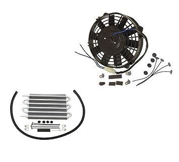 """Toallero eléctrico 9 """"Radiador de refrigeración ventilador 12 V 800 CFM cartucho para aceite"""