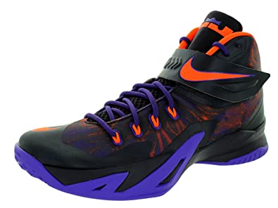cheaper 9a93c 0a77c Nike Mens Zoom Soldier VIII Prm Crt Purple Hypr Crmsn Cv Prpl Basketball  Shoe