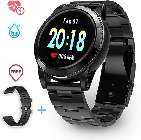 GOKOO Smartwatch Impermeable para Hombre, Reloj Deportivo Reloj ...