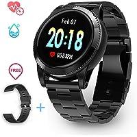 Smartwatch Impermeabile Uomo IP67, Smartwatch Sportivo Uomo Orologio Sportivo Cardiofrequenzimetro da Polso Monitoraggio Fitness Tracker Contapassi Smartwatch Bluetooth per Android e iOS