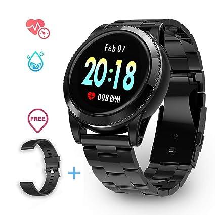 Smartwatch Deporte Hombre, GOKOO Pulsera Inteligente Monitores de actividad Impermeable IP67 con Monitor de sueño