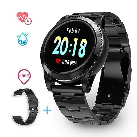 GOKOO Smartwatch Impermeable para Hombre, Reloj Deportivo Reloj Inteligente Hombre para Deporte y Ocio con Monitor del sueño cardiofrequenzimetri ...