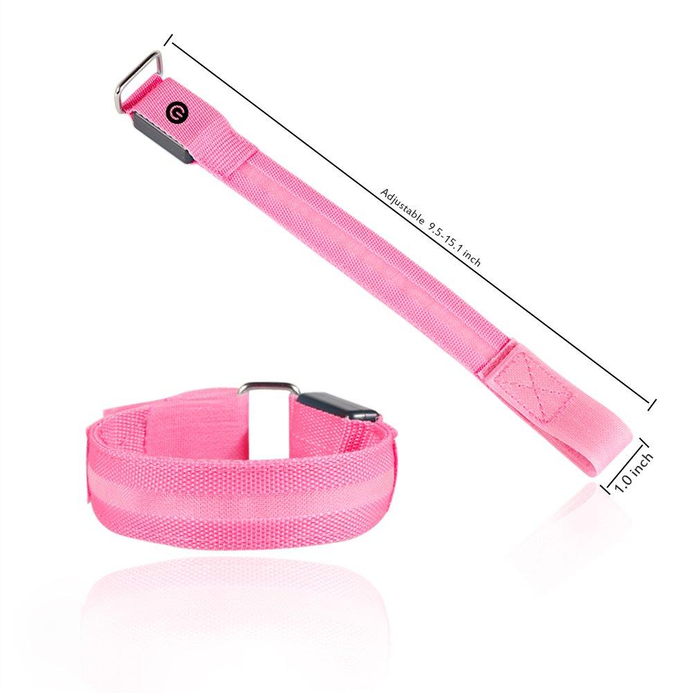 Vikaster LED Armband, austauschbare Batterie-3 Modi /(Immer Hell ...