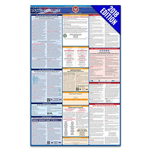 2018 South Carolina Labor Law Poster – State & Federal Compliant – - South Center Stores