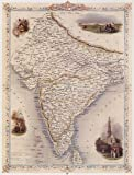 1800's BRITISH INDIA DELHI BOMBAY MAP VINTAGE POSTER REPRO