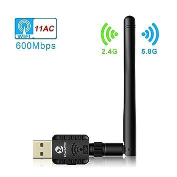 Zoweetek® - Llave USB Wi-Fi, 600 Mb/s, adaptador de
