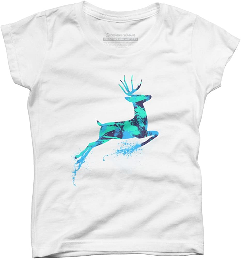 Design By Humans Girls Youth Graphic T Shirt Oh deer
