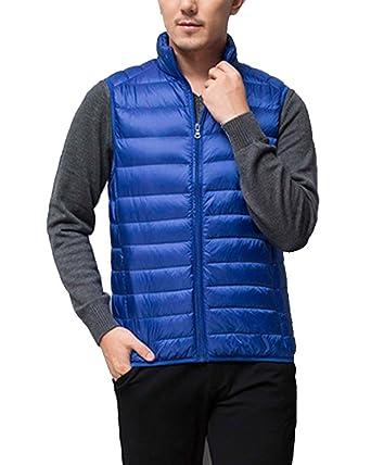 Kasen Giacca da Uomo Corto Senza Maniche Piumino di Inverno Cappotto Gilet  Parka  Amazon.it  Abbigliamento 7edf02f7043