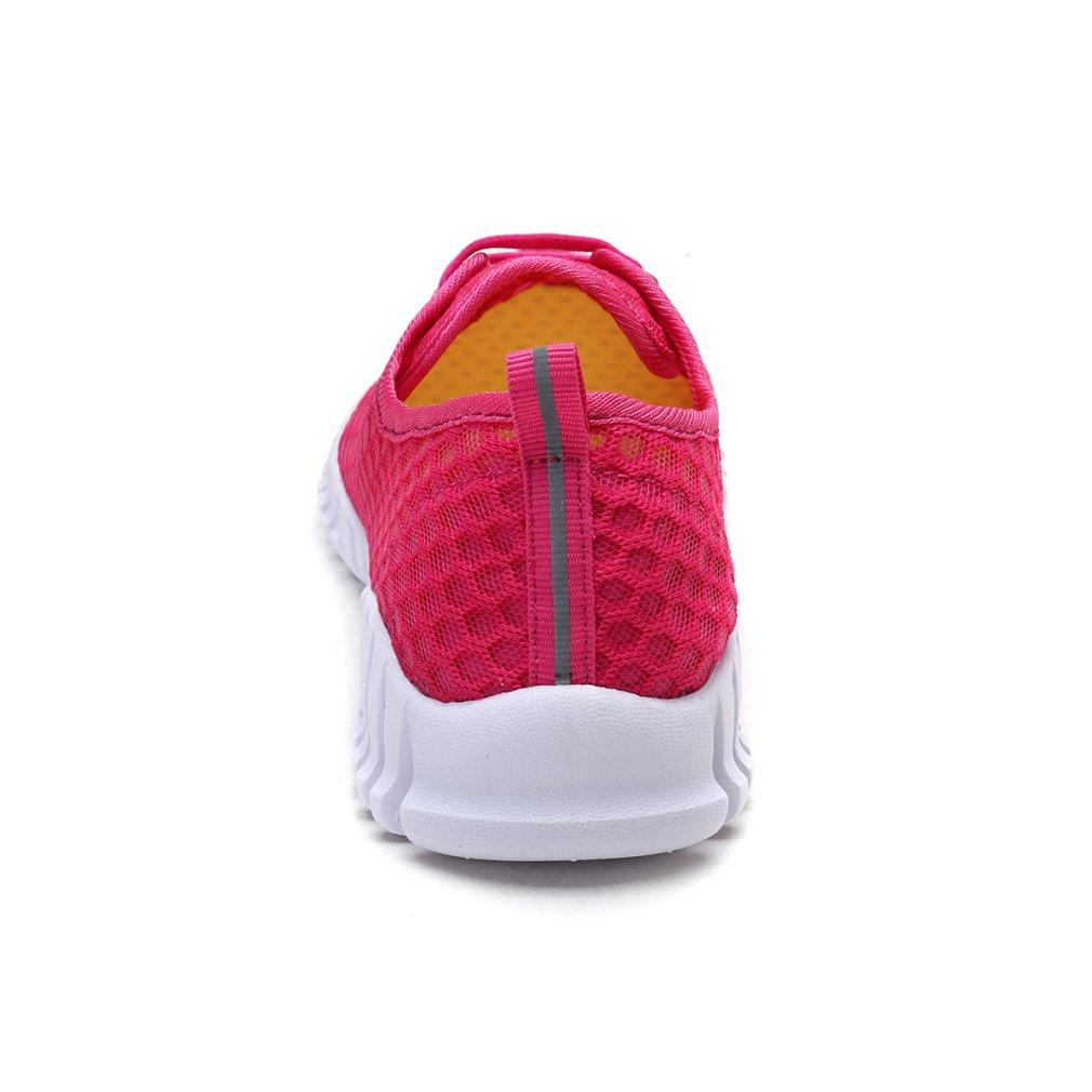 KEESKY Quick Drying Water Shoes Mesh and Aqua Shoes for Men and Mesh Women B079GV4MH8 8 B(M) US Women / 6 D(M) US Men Rose Red bdbcb0