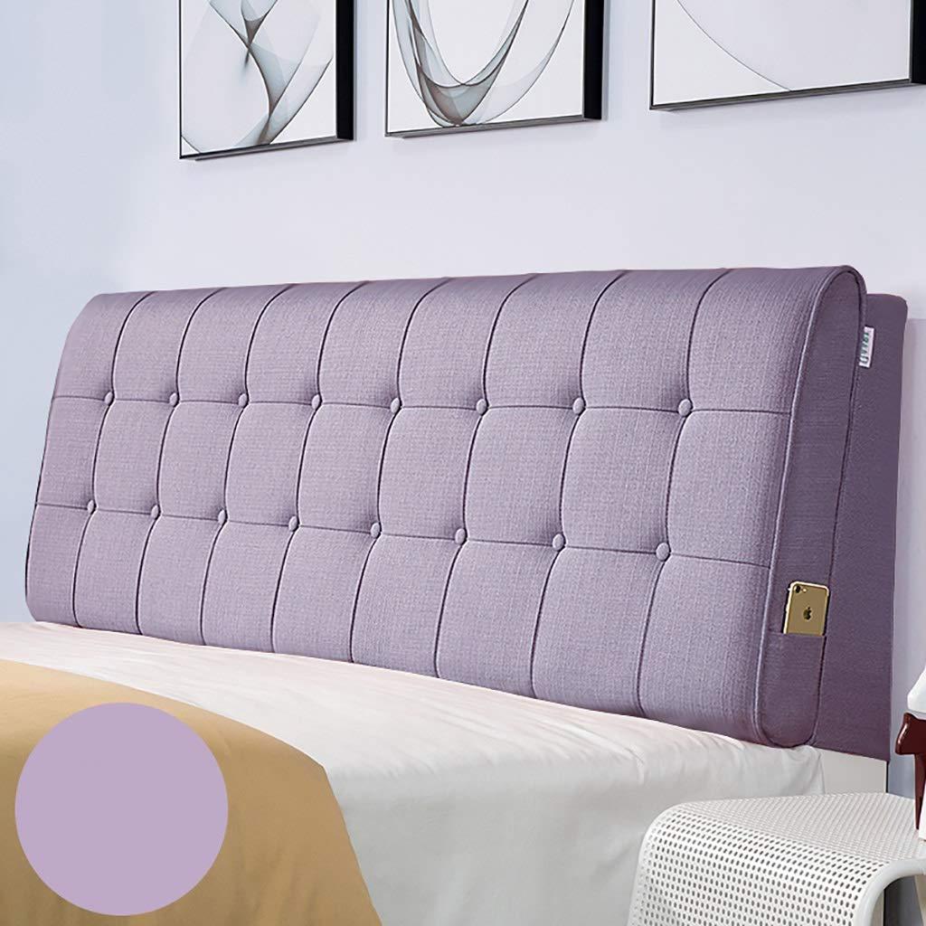 ベッド枕 多色オプションのベッドヘッドクッションクッション大バックヘッドボードソフトカバー生地畳取り外し可能と洗える綿とリネン素材サイズ90センチメートル - 200センチメートルオプション 写真ベッド枕首まくら (色 : I, サイズ さいず : Bedside(150*60)) B07RV9KLKL