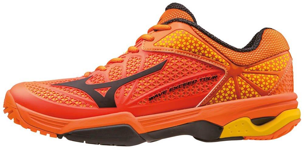 Mizuno Herren Wave Exceed Tour AC Tennisschuhe, Orange  40.5 EU|Orange (Vibrantorange/Black/Spectrayellow)