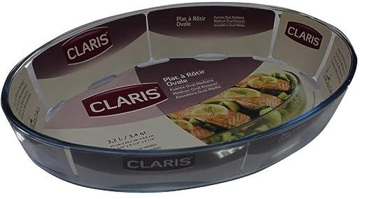 Claris Gran - Cazuela de Cristal, Forma de Fuente para el ...