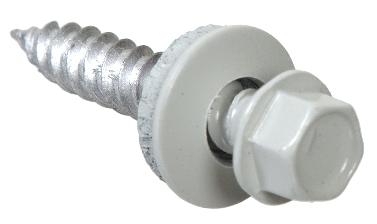 The Hillman GroupThe Hillman Group 35243 Hex Washer Head White Sheet Metal Screw 10 x 2 25-Pack