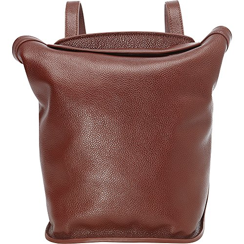 Leatherbay Roma Small Backpack Handbag (Dark Brown) by Leatherbay