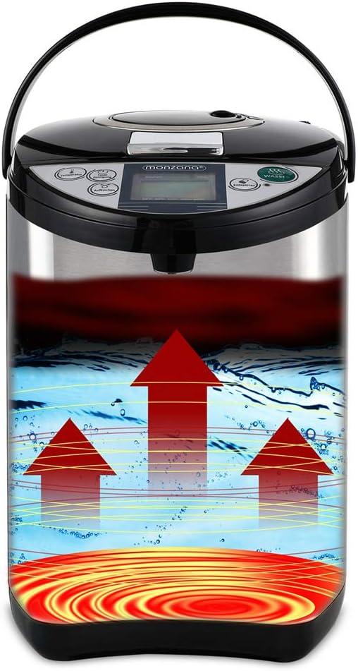 monzana® Heißwasserspender Thermopot Wasserspender Thermoskanne digital 750 W