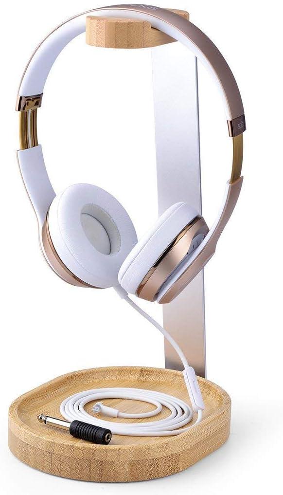 Avantree Universal Wooden & Aluminum Headphone Stand Hanger