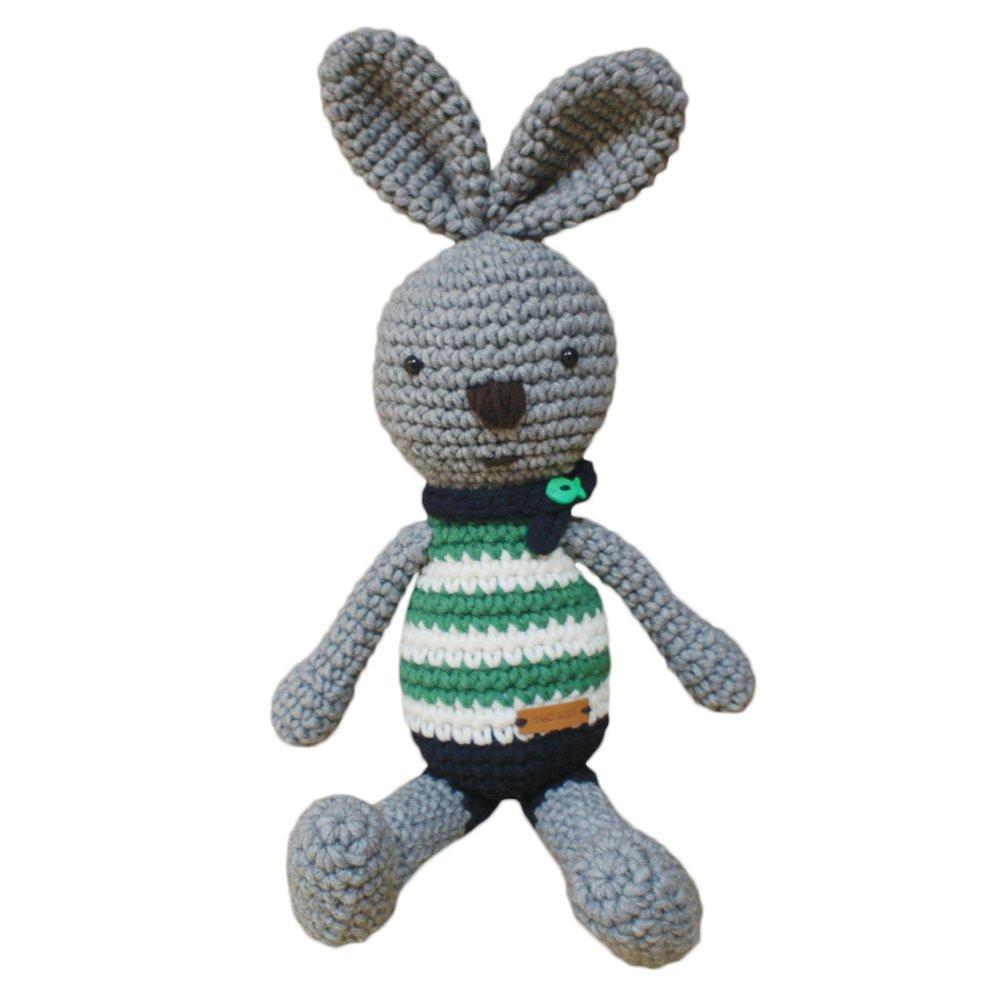 Amazon Ihanco My Friend Big Bunny Knitting Doll Gray