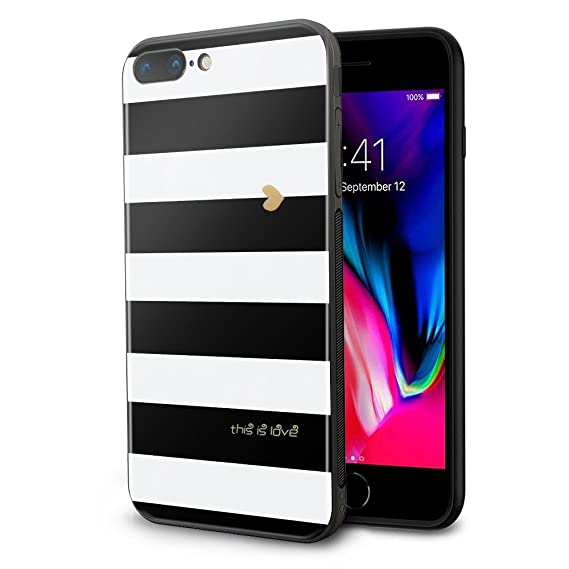 designer fashion f7e54 ebdfd iPhone 8 Plus Case, iPhone 7 Plus Case, Wandeneng Hybrid Fancy Colorful  Pattern Hard Soft Silicone Bumper Case Fit for Apple iPhone 8 Plus ( 2017)  / ...
