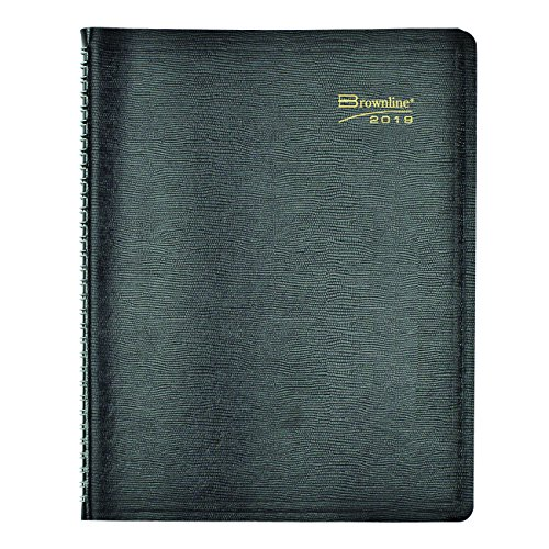 (Brownline Weekly Appointment Book, Twin-Wire with Soft Black Cover, English, 11 x 8-1/2 (CB950.BLK 2019))