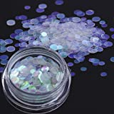 Holographic Mermaid Nail Glitter Sequins, Ultra-thin Iridescent Flakes Chunky Glitters,Star/Moon/Heart/Round/Flower/Butterfly Nail Paillette(AB02)
