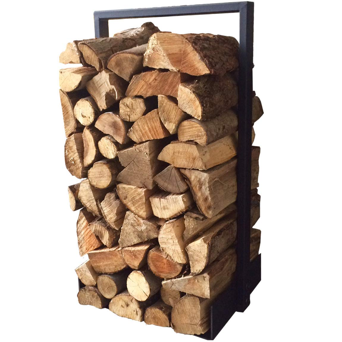 Firewood log rack for home fire place decoration indoor outdoor modern and rustic style Black Hand Made in North America