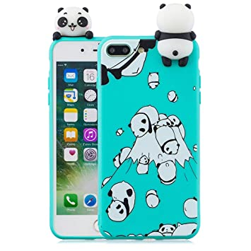 EuCase Funda iPhone 8 Plus Silicona 3D Dibujos Carcasa ...