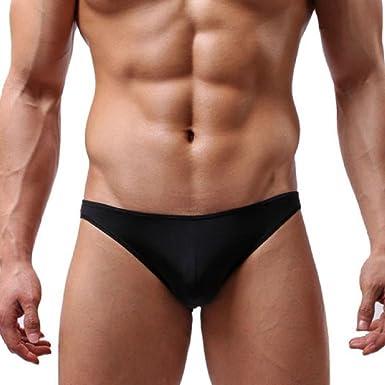 Ultra-thin Men/'s Underwear Low-waist Perspective Boxer Briefs Underpants Fashion