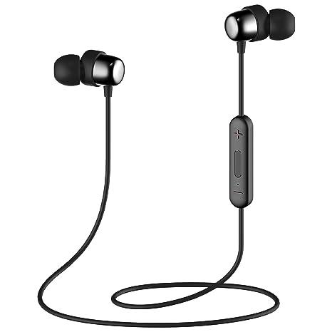 Bluetooth In-Ear Sport Kopfhörer HAVIT V4.2 IPX5 Stereo magnetischer Sport Ohrhörer mit 7-10 Stunden Spielzeit, eingebautes M