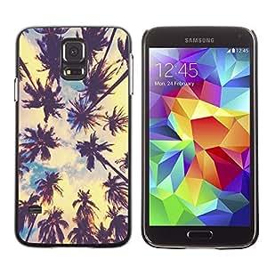 Caucho caso de Shell duro de la cubierta de accesorios de protección BY RAYDREAMMM - Samsung Galaxy S5 SM-G900 - Palm Trees Tropical Summer