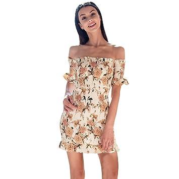 Vestidos sexy para mujer, Saihui para mujer, con estampado floral, para fiestas,