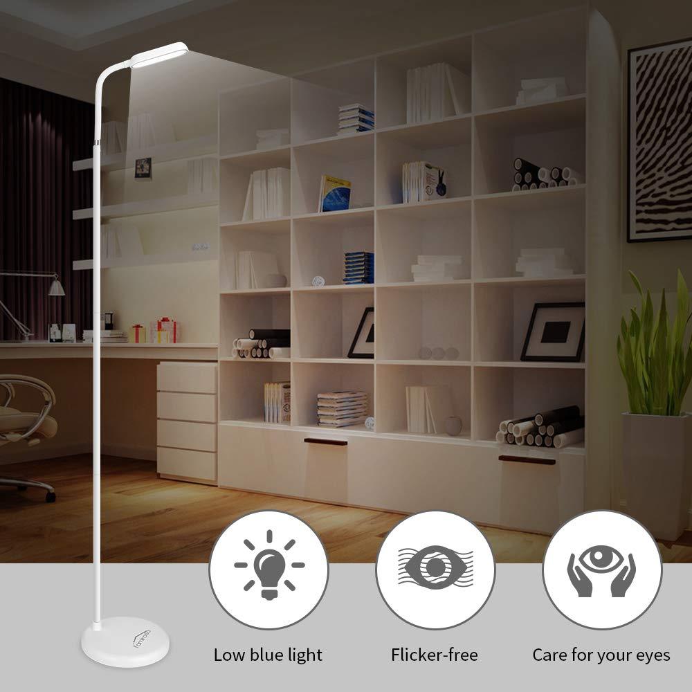 Lampada LED Senza Cordone per Cura Degli Occhi Con Manopola di Regolazione Della Luminosit/à Luce a Collo di Cigno Flessibile Lampada da Terra Ricaricabile Rinnovata