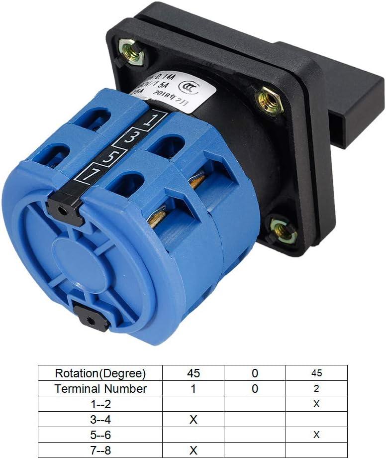 Commutateur inverseur 4 Site Commutateur /à came rotatif 8 Terminal Verrouillage