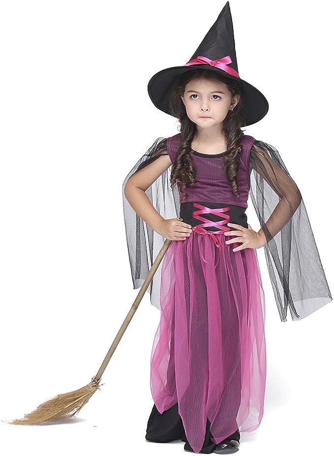 Dr.mama Disfraz Cosplay Infantil de Trajes de la bruja niñas ...