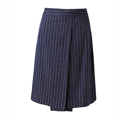 YALI Rayas De Cintura Muy Delgada Pantalones Anchos Faldas ...