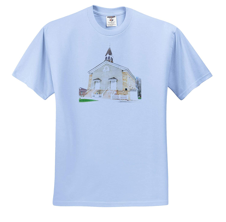 an Old Rock Church in Parowan Utah 3dRose Jos Fauxtographee- Church ts/_318977 Adult T-Shirt XL