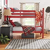 IQ KIDS Simone Twin and Twin Bunk Beds in Red